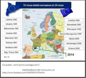 nuovi stati dal 1990 ad oggi in europa